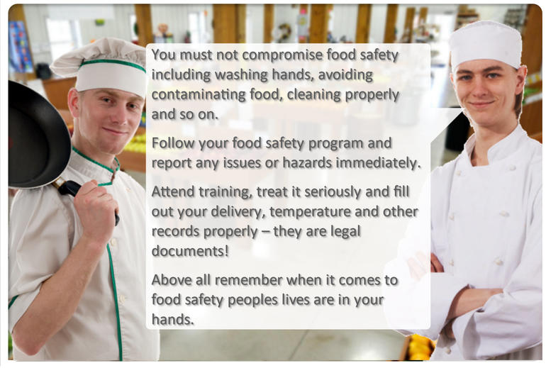 food safety message